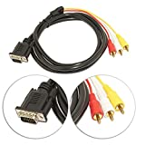 #8: EASYTECH VGA to 3 RCA Component Video Cable