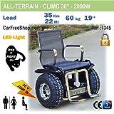 carfreeshop 1345golf-buggy/Offroad/Country/All-Terrain-Rollstuhl/sitzen ausgewogene Scooter, Speed von Ihre Körper der Schwerpunkt des, Design, leistungsstark (2000W), car-boot-konform, (Arthrose Behinderte oder nicht)