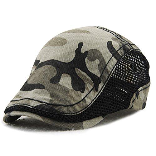 Baschi scozzesi Cappelli e cappellini Tioamy camuffamento Coppola Cappello  Irish Gatsby Newsboy Hat Flat Cap 46e46b80c223