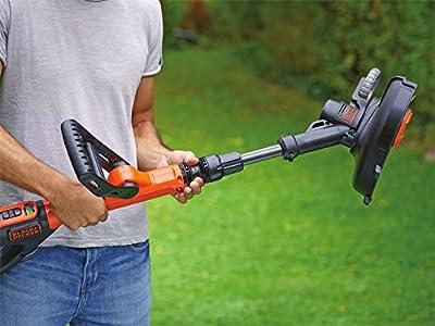 Black+Decker Akku-Rasentrimmer (18V 2,0Ah, 28 cm Schnittbreite, automatische Fadenverlängerung (AFS) für größere Flächen geeignet, ohne Akku und Ladegerät) STC1820PCB