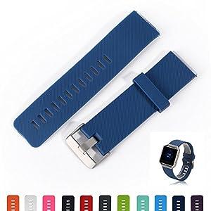 Fitbit Unisex Fitness Uhr Blaze Uhrenarmband – iFeeker Zubehör Weiche Silikon Classic Armband Ersatz Armband Bands Strap mit Schnellspanner für Fitbit Blaze Smart Fitness Uhr (klein oder groß)