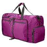 Sailnovo Leichter Faltbare 85L Reise-Gepäck Duffel Taschen weekender Übernachtung Taschen Sporttasche für Sport Reisen Gym Urlaub (lila)