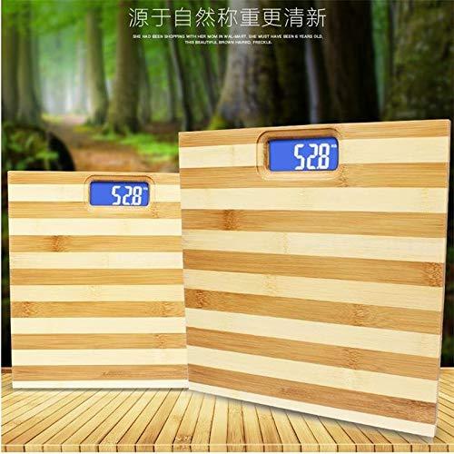 YYMMQQ Bilancia pesapersone Bilancia Zebra modello in bambù scala in legno per la salute umana protezione dell\'ambiente antiscivolo design scala del peso