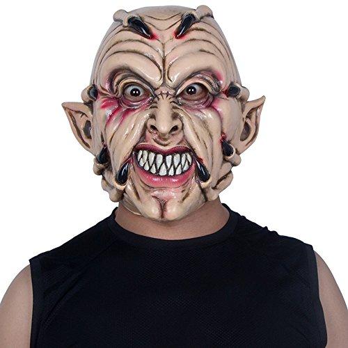 HBWJSH Halloween-Maske Horror Erwachsenen männlichen Gesicht Gesicht Latex Haube Teufel Geist Klaue Tanz Party ordentlich furchterregende Requisiten