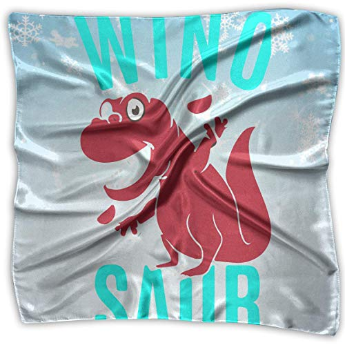 Wine Drinking Dinosaur Women's Square Scarf Headdress Multi-Purpose Fashion Scarves