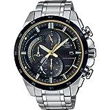 CASIO Herren Chronograph Solar Uhr mit Edelstahl Armband EQS-600DB-1A9UEF