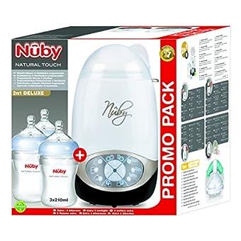 Nuby ntvp37––Appareil Deluxe en silicone avec 3bouteilles, 210ml