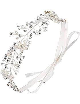 Babeyond Boda nupcial partido de la venda del pelo damas de honor accesorios para el pelo cristal perla diadema...