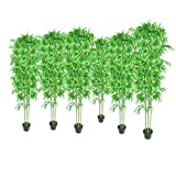 vidaXL Lot de 6 bambous artificiels verts en pot 190cm plante décoration