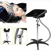 Aiyoudemutou Shampoo Sink Hair Basin, Portable Adjustable Hairdressing Back Wash Shampoo Basin Sink Hairdresser Salon Hair Washing Mobile