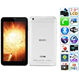 Cube Talk 7X 3G Tablet PC MTK8312 Dual Core 7 Inch Android 4.2 4GB Monster Phone White