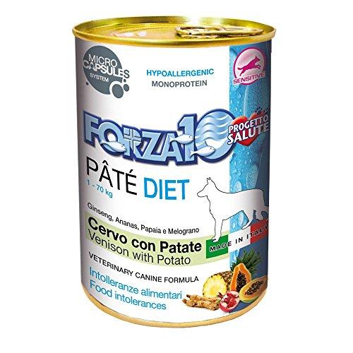 FORZA 10 Patè diet cervo e patate umido cane gr. 400 - Mangimi umidi per cani