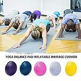 Longspeed Tragbare größe PVC körper übung Fitness stabilität disc Balance Yoga pad wackelkissen knöchel kniebrett mit pumpe lila