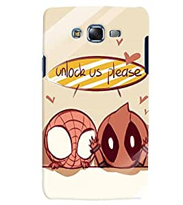 Citydreamz Unlock Us Please/Funny Cartoon Hard Polycarbonate Designer Back Case Cover For Samsung Galaxy Grand Max G7202
