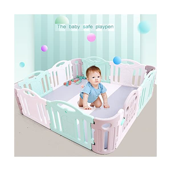 Baby Game Safety Fence Children's Playpen Guardrail Play Yard Indoor Toddler Crawling Door Bar Toy Playground Plastic PE indoor JD Playpen The sturdy material provides a safe environment for your baby. 【Material】: Plastic PE.【Size】: 120*120*68cm , 120*190*68cm , 190*190*68cm 【High Security】: The height of the fence is 68cm, enough for the baby to stand and walk, give your baby a security space; Rotary switch button door,easy access. 7