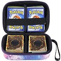 Cpano Bolsa de Almacenamiento de Transporte de Estuche rígido para Tarjetas de Comercio Pokemon, Se Adapta a hasta 400 Tarjetas,Titular de Juego de Cartas con Divisor extraíble (Galaxia)