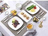 Creative Steak Ceramic Plate Square Single Set