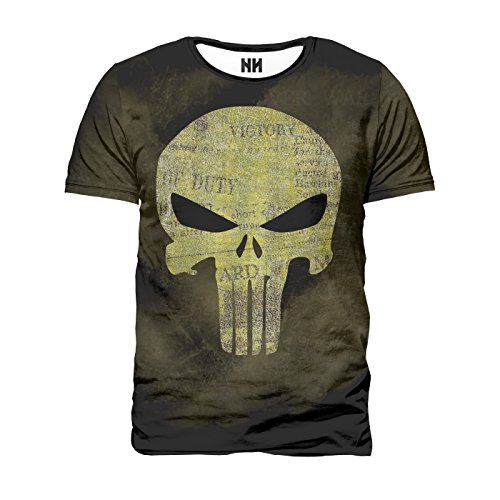 THE PUNISHER LOGO - Marvel Comics T-Shirt Man Uomo - Spiderman T-Shirt Serie TV Fumetti Film Supereroi Il Punitore Frank Castle