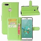 Guran® Funda de Cuero PU Para ZTE Nubia Z7 Mini Smartphone Función de Soporte con Ranura para Tarjetas Flip Case Cover Caso-verde