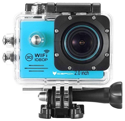 icefox® Cámara de Acción WIFI, Cámara FHD Submarina Digital con 12