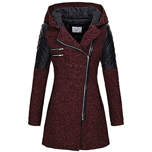 x8jdieu3 Frauen Herbst und Winter Lange Kapuze lose Diagonale Reißverschluss Pullover Jacke warme Kapuzenjacke dicken Baumwollpullover Sweatshirt