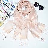 Baumwolle Schal Schal Herbst und Winter reine Seidenraupe Seide Seidentuch | Schal Schal | Lady Herbst Schal | Seidenschal, nude Pink