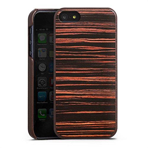 Apple iPhone X Silikon Hülle Case Schutzhülle Holzboden Maserung Holz Look Leder Case braun