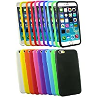 "Emartbuy® Apple Iphone 6 6G 6S 4.7 "" Zoll Silicon Hülle Schutzhülle Case Cover Packung 10 Mixed Colours"