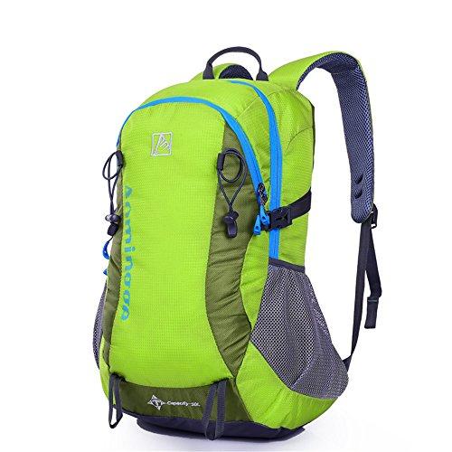 Wewod Hot alpinismo borsa Contrasto Colore Sport all' aperto borsa zaino da viaggio, donna Uomo Bambino, blu verde