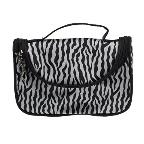 Fulltime® Femmes Maquillage Sac à main Cosmetic Case Toiletry Bag Zebra Voyage