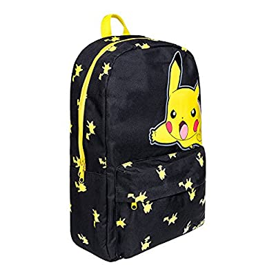 Mochila Pokemon Big Pikachu (Negro/Amarillo)