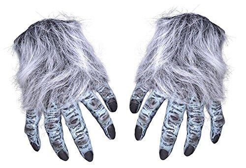 5Hairy Hände, Unisex, grau, one size (Wolfman Kostüme Kinder)