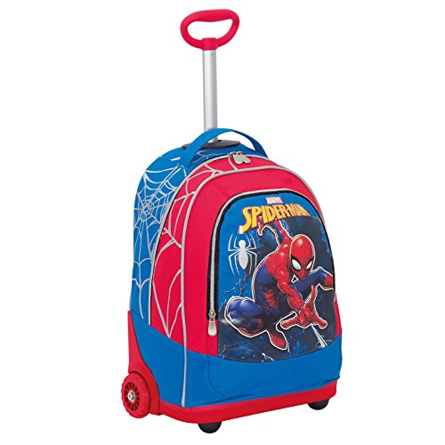 Trolley Marvel , ULTIMATE SPIDERMAN WEBBED WONDER , Rouge , 30 Lt , 2in1 Sac à dos à roulettes , École & Voyage