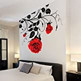 Stylish Vines and Roses Flower Wall Stickers, Wall Decals, Wall Art