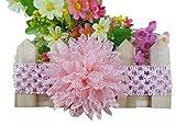 NeedyBee pink Flower Handmade Headband f...