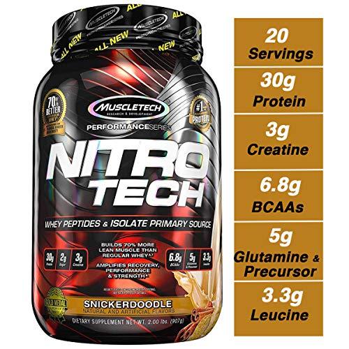 Muscletech Performance Series Nitro-Tech (2lbs) Snickerdoodle, 900 g - 2 Lb Muskelaufbau
