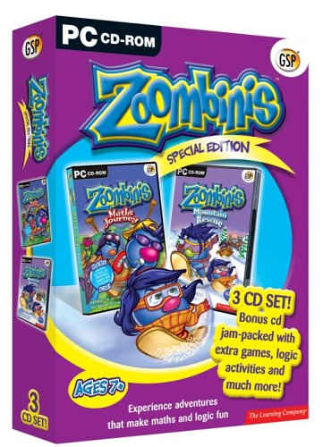 Zoombinis Special 3 CD Pack (Maths Journey, Mountain Rescue & Games) Test