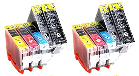 Multipackt of 10 CANON COMPATIBLE INK XL CARTRIDGES WITH CHIP