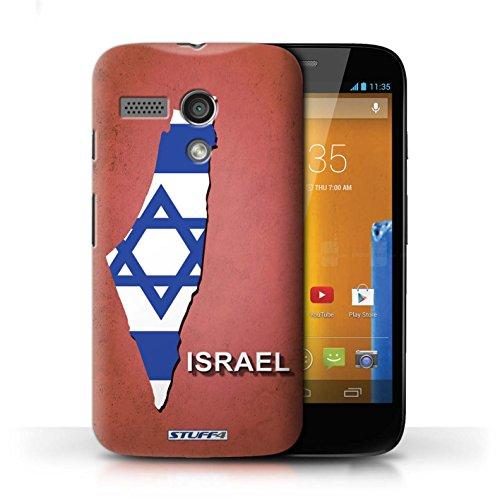 Kobalt® Imprimé Etui / Coque pour Motorola MOTO G (2013) / Italie/Italien conception / Série Drapeau Pays Israël/Israélien