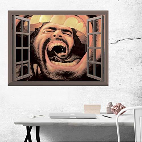 ZYL123 Lustige Festliche Tapeten 3D Horror Dekor Beängstigend Wand Aufkleber Abnehmbare Dekorationen