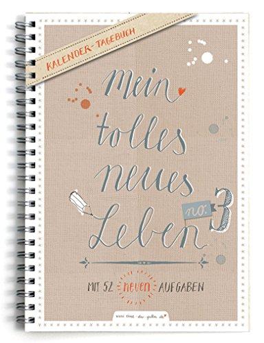 Terminkalender A5 - Mein tolles neues Leben 3 | Wochenkalender mit 52 neuen Aufgaben | Taschenkalender & Terminplaner | Kalender immerwährend mit Jahresübersicht für 2019 | Spiralbindung, Beige Weiß (Paar Kostüme 2019 Lustig)