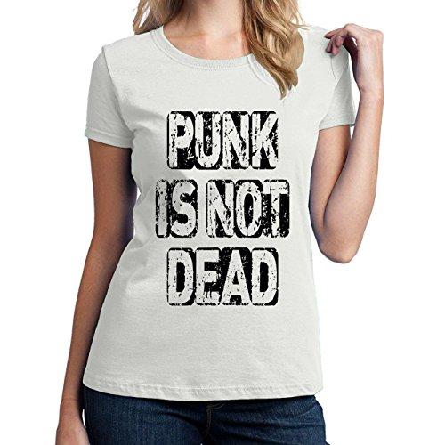 Punk Is Not Dead-Maglietta da donna bianco small