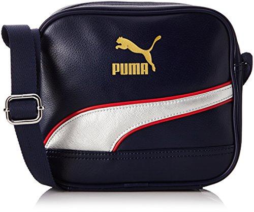 PUMA Umhängetasche Originals Portable, Peacoat/Metallic Silver, OSFA, 073865 03 (Zierliche Handtasche)