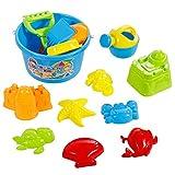 Pttengcheng Strandspielzeug sandspielzeug Set 14Stk Wasserspielzeug sandkasten Spielzeug spielstabil sandspielzeug buddelzeug für Jungen Mädchen Kinder