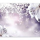 murando - Fototapete Blumen 350x256 cm - Vlies Tapete - Moderne Wanddeko - Design Tapete - Wandtapete - Wand Dekoration - Lilien Lila Abstrakt Ornament Bokeh b-A-0012-a-d