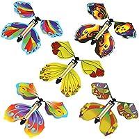 TOPVORK 50 piezas de goma mágica de mariposa voladora, juguete de mariposa para regalos sorpresa o fiestas, jugar en Navidad