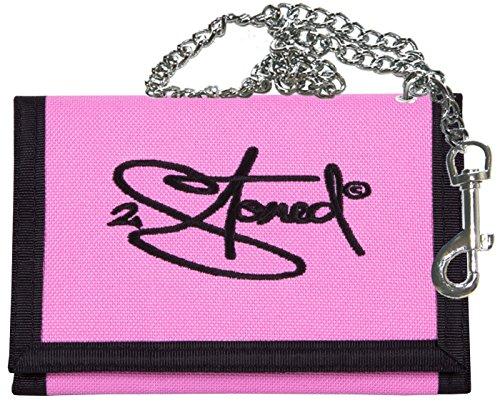 2Stoned Ketten-Geldbörse mit Stickmotiv Classic Logo in Rosa für Damen und Mädchen