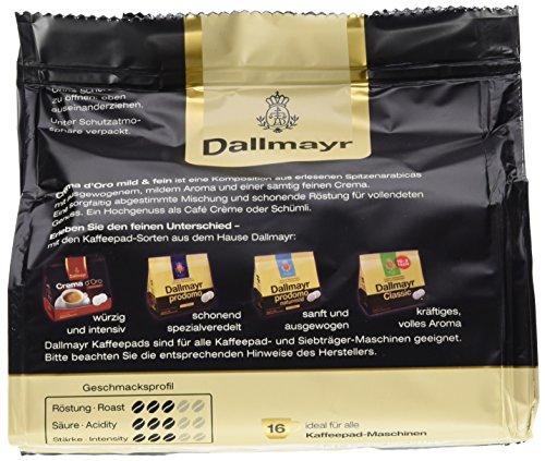 Dallmayr Crema d'oro mild und fein Pads, 5er Pack (5 x 16 Pads) - 3