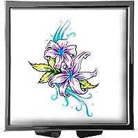metALUm Pillendose/quadratisch / Modell Marco/Natur - Blumen/Zeichnung einer Blüte / 41010025 preisvergleich bei billige-tabletten.eu