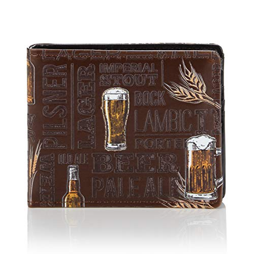 Shagwear - Monederos para Hombre jóvenes diseños: (Cerveza/Beer)